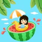 卡片背景:西瓜味的夏天
