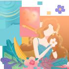 卡片背景:女神