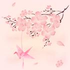 卡片背景:樱花